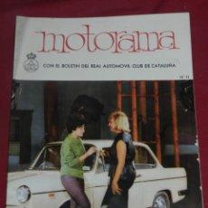 Coches: REVISTA MOTORAMA BOLETÍN DEL RELA AUTOMOVIL CLUB DE CATALUNYA N.11, BUEN ESTADO. Lote 175657602