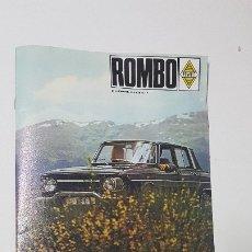 Coches: ROMBO, REVISTA DE FASA-RENAULT. Nº 1 DICIEMBRE 1.967.. Lote 175876925