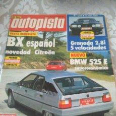 Coches: REVISTA AUTOPISTA NUM.1239 ABRIL 1983 CITROEN BX BMW 525 FORD GRANADA. Lote 175991532