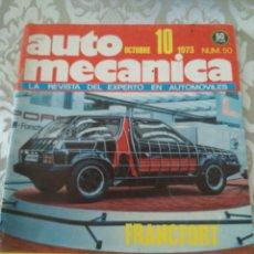 Coches: REVISTA AUTOMECANICA NUM. 50 OCTUBRE 1973. Lote 176001175