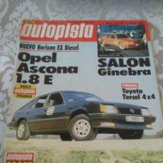 Coches: REVISTA AUTOPISTA NUM. 1236 MARZO 1983 OPEL ASCONA TOYOTA TERCEL. Lote 176001507