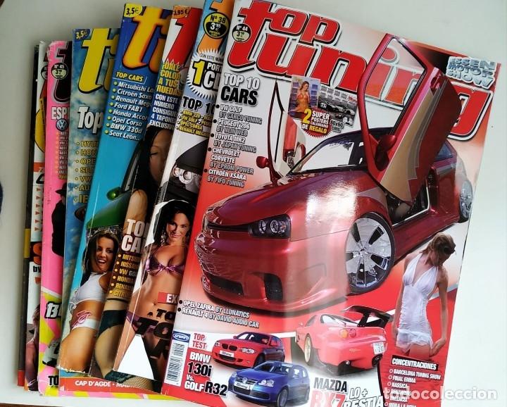 LOTE 10 REVISTAS TOP TUNING (Coches y Motocicletas Antiguas y Clásicas - Revistas de Coches)