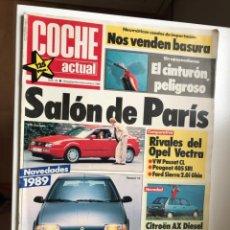 Coches: REVISTA COCHE ACTUAL NRO 35 SEPT 1988.SALON PARIS-UNO 45-VECTRA GL-SIERRA2.0I-405 SRI-PASSAT CL.AX D. Lote 176592759