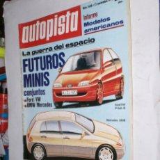 Coches: REVISTA AUTOPISTA Nº1688 21 NOVIEMBRE1991,FORD/VW,BMW/MERCEDES,MODELOS AMERICANOS,10 TITULOS LANCIA. Lote 176759010