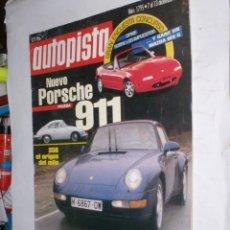 Coches: REVISTA AUTOPISTA Nº1795 7 DICIEMBRE 1993,NUEVO PORSCHE 911,BMW 316I COMPACT. Lote 176760990