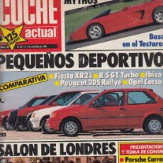 Coches: REVISTA COCHE ACTUAL Nº 80 AÑO 1989. PRUEBA: FORD FIESTA XR2I. MAZDA 323 F. COMP: FORD FIESTA XR2I,. Lote 176941820