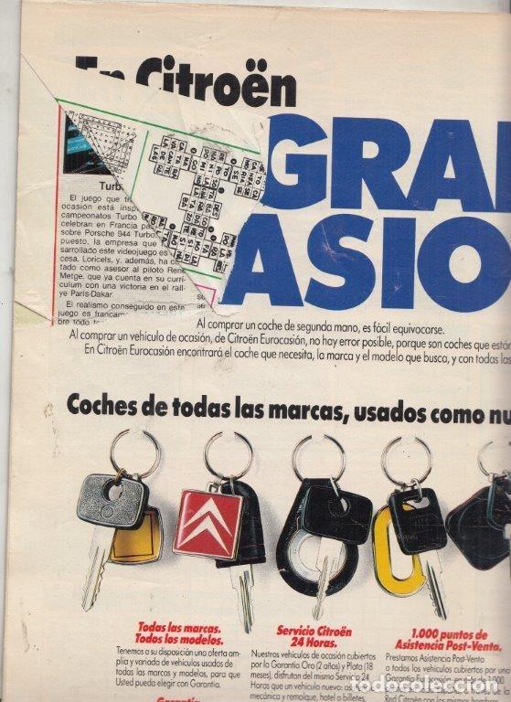 Coches: REVISTA COCHE ACTUAL Nº 80 AÑO 1989. PRUEBA: FORD FIESTA XR2I. MAZDA 323 F. COMP: FORD FIESTA XR2I, - Foto 2 - 176941820
