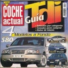 Coches: REVISTA COCHE ACTUALNº 556 AÑO 1998. . Lote 177118357