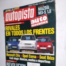 Coches: REVISTA AUTOPISTA Nº1777 5 AGOSTO1993,MAZDA MX5 1,8,CLIO,CORSA,IBIZA,24 HORAS SPA,CITROZX RALLYRAID. Lote 177182869