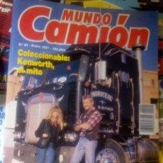 Coches: MUNDO CAMION Nº 20 ENERO 1991 - CAMIONES RENAULT 340 COLECCIONABLE KENWORTH - REVISTA. Lote 177394169