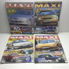 Coches: LOTE 4 REVISTAS MAXI TUNING - LA PRIMERA REVISTA TUNING EN ESPAÑA - Nº 3 ,4, 17 Y 18. Lote 177395195