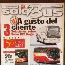 Carros: SUPLEMENTO SOLO BUS MARZO 1998 AUTOBUSES IVECO BOVA IRIZAR. Lote 177397993