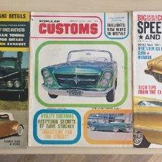 Coches: 3 REVISTAS CUSTOM AÑOS 60 USA AUTOMOVILES AMERICANOS. Lote 177425985