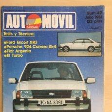 Carros: REVISTA AUTOMOVIL NUMERO 42 FORD ESCORT XR3. Lote 177426862