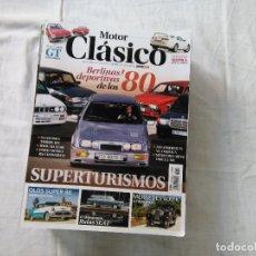 Coches: MOTOR CLÁSICO - REVISTA - Nº 349 - SUPERTURISMOS BERLINAS DEPORTIVAS DE LOS 80. Lote 178204883
