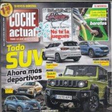 Coches: REVISTA COCHE ACTUAL Nº 1488 AÑO 2019. PRU: JAGUAR I-PACE EV400 HSE AUTO 4WD. CUPRA ATECA 2.0 TSI.. Lote 178754477