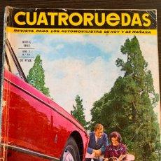 Coches: REVISTA CUATRO RUEDAS CUATRORUEDAS DE ABRIL DE 1965 AÑO 2 Nº 16. Lote 178950568