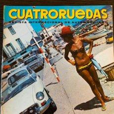 Coches: REVISTA CUATRO RUEDAS CUATRORUEDAS DE AGOSTO DE 1967 AÑO IV Nº 8. Lote 178950682