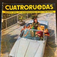 Coches: REVISTA CUATRO RUEDAS CUATRORUEDAS DE JUNIO DE 1965 AÑO 2 Nº 18. Lote 178950807