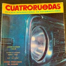 Coches: REVISTA CUATRO RUEDAS CUATRORUEDAS DE NOVIEMBRE DE 1967 AÑO IV Nº 17. Lote 178951056