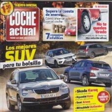 Coches: REVISTA COCHE ACTUAL Nº 1463 AÑO 2018. PRU: SKODA KAROQ 1.6 TDI 115 CV. C:PEUGEOT 308 GT Y GOLF GTD.. Lote 178984612