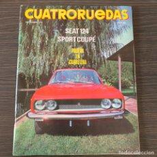 Coches: REVISTA CUATRORUEDAS NOVIEMBRE 1970 SEAT 124 SPORT 1600 CON PÓSTER CENTRAL. Lote 179008285
