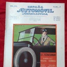 Coches: REVISTA ORIGINAL ESPAÑA AUTOMÓVIL Y AERONÁUTICA Nº 3, DE 1927.. Lote 179011991