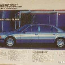 Coches: RECORTE DE REVISTA DESPLEGÁBLE, ANTIGUA PUBLICIDAD BMW SERIE 7.. Lote 179113683