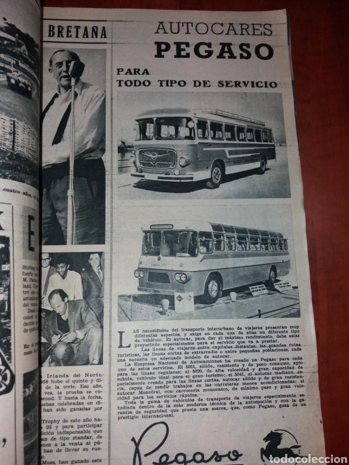 Coches: Revista Velocidad n° 37 1961. Barreiros Pegaso Iso. - Foto 2 - 179196887