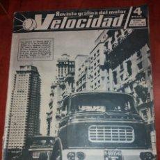 Coches: REVISTA VELOCIDAD N° 37 1961. BARREIROS PEGASO ISO.. Lote 179196887