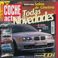 Coches: REVISTA COCHE ACTUAL Nº 568 AÑO 1999. PRUEBA: FIAT MULTIPLA 1.6 ELX. COMPARATIVA: MAZDA 323 F DITD. Lote 180134497