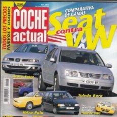 Coches: REVISTA COCHE ACTUAL Nº 570 AÑO 1999. PRU: FORD COUGAR 2.5 V6. COMP: ALFA 156 2.5 V6 24V Y BMW 323I.. Lote 180134818