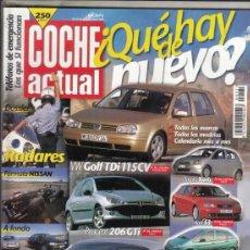 Coches: REVISTA COCHE ACTUAL Nº 571 AÑO 1999. PRU:SAAB 9-5 2.3T SW. COMP:FORD MONDEO 2.5I V6 RS Y TOLEDO V5.. Lote 180135016