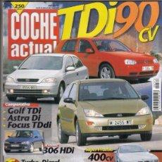 Coches: REVISTA COCHE ACTUAL Nº 576 AÑO 1999. PRU: RENAULT MEGANE 1.4 16V RT. BMW M5. C: FORD FOCUS 1.8 TDDI. Lote 180136346