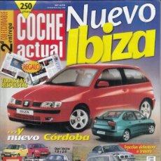 Coches: REVISTA COCHE ACTUAL Nº 579 AÑO 1999. PRU: LEXUS IS 200. COMP: HONDA LOGO 1.3 Y TOYOTA YARIS 1.0 SOL. Lote 180137310
