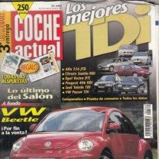 Coches: REVISTA COCHE ACTUAL Nº 580 AÑO 1999. PRUEBA: VW NEW BEETLE 2.0. . Lote 180137507