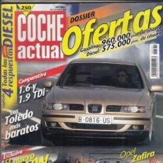 Coches: REVISTA COCHE ACTUAL Nº 581 AÑO 1999. PRUEBA: SEAT TOLEDO 1.6 STELLA. OPEL ZAFIRA COMFORT 1.6. . Lote 180137922