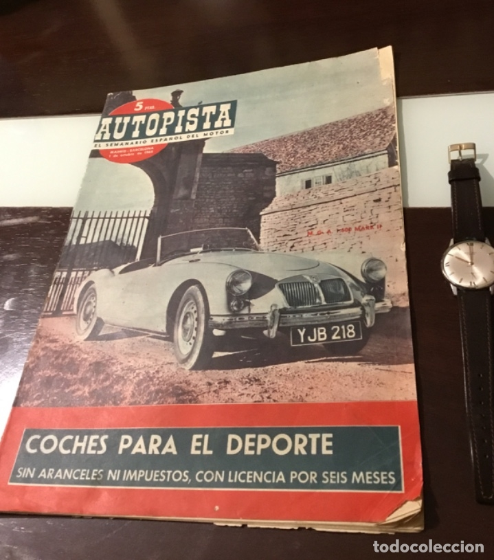 ANTIGUA REVISTA AUTOPISTA MOTOR PERKINS VEHÍCULOS ROVER SEAT 1400 BARREIROS SAVA VESPACAR (Coches y Motocicletas Antiguas y Clásicas - Revistas de Coches)