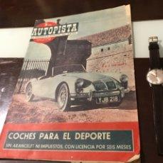 Coches: ANTIGUA REVISTA AUTOPISTA MOTOR PERKINS VEHÍCULOS ROVER SEAT 1400 BARREIROS SAVA VESPACAR. Lote 180149958
