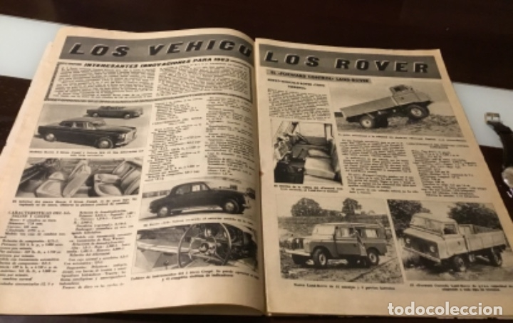Coches: Antigua revista autopista motor Perkins vehículos Rover Seat 1400 Barreiros Sava vespacar - Foto 5 - 180149958