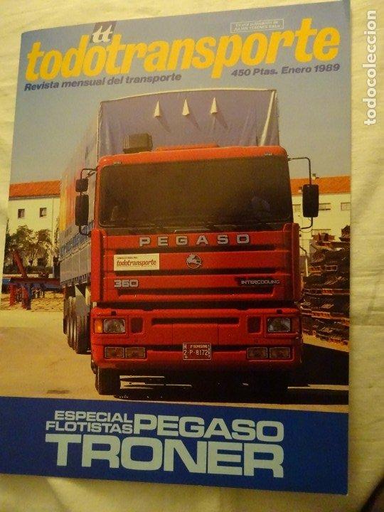 REVISTA TODOTRANSPORTE, ESPECIAL PEGASO TRONER, ENERO 1989 (Coches y Motocicletas Antiguas y Clásicas - Revistas de Coches)