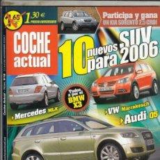 Coches: REVISTA COCHE ACUTAL Nº 916 AÑO 2005. PRUEBA: MERCEDES ML 320 CDI. MERCEDES SLK 55 AMG. . Lote 180387567