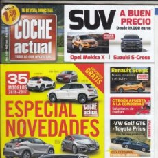 Coches: REVISTA COCHE ACTUAL Nº 1429 AÑO 2016. COMPARATIVA: TOYOTA PRIUS Y VW GOLF GTE. . Lote 180476003
