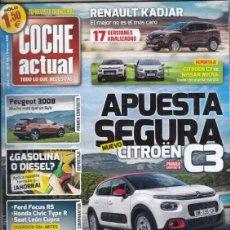 Coches: REVISTA COCHE ACTUAL Nº 1431 AÑO 2016. C:FORD FOCUS RS, HONDA CIVIC TYPE R Y SEAT LEON CUPRA DSG PP.. Lote 180476532