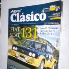 Coches: REVISTA MOTOR CLASICO Nº254 MARZO 2009 FIAT-SEAT 131,CLASICOS PORTUGUESES,LAMINA COLECCIONABLE . Lote 181570843