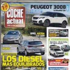 Coches: REVISTA COCHE ACTUAL Nº 1435 AÑO 2016. PRU: PEUGEOT 3008 1.6 HDI 120CV. COMP: SMART FORTOUR 1.0 Y VW. Lote 181621078