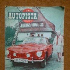 Coches: REVISTA AUTOPISTA. 13 DE AGOSTO DE 1962.. Lote 182083468