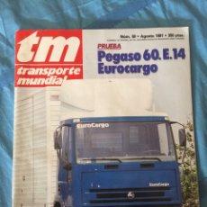 Auto: REVISTA TRANSPORTE MUNDIAL NÚMERO 50 AGOSTO 1991 PEGASO SCANIA. Lote 182495705