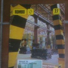 Coches: ROMBO FASA-RENAULT VALLADOLID. RENAULT-18 COPA NACIONAL RENAULT. Lote 182733322