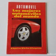 Coches: LOS MEJORES AUTOMÓVILES DEL MUNDO. AÑO 1992. REVISTA AUTOMOVIL. Lote 182743406